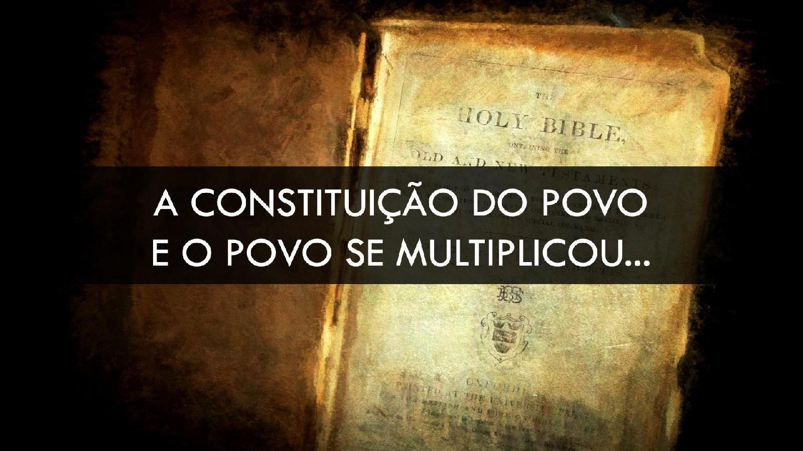 """Constituição do Povo - """"E o povo se multiplicou..."""""""